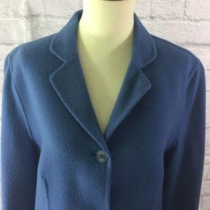 Vintage-Blue-Talbots-100-Wool-Coat-Jacket-